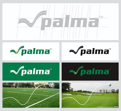 以足球场,高尔夫球场的绿色为主色调,以球的动感飘逸运动轨迹为logo