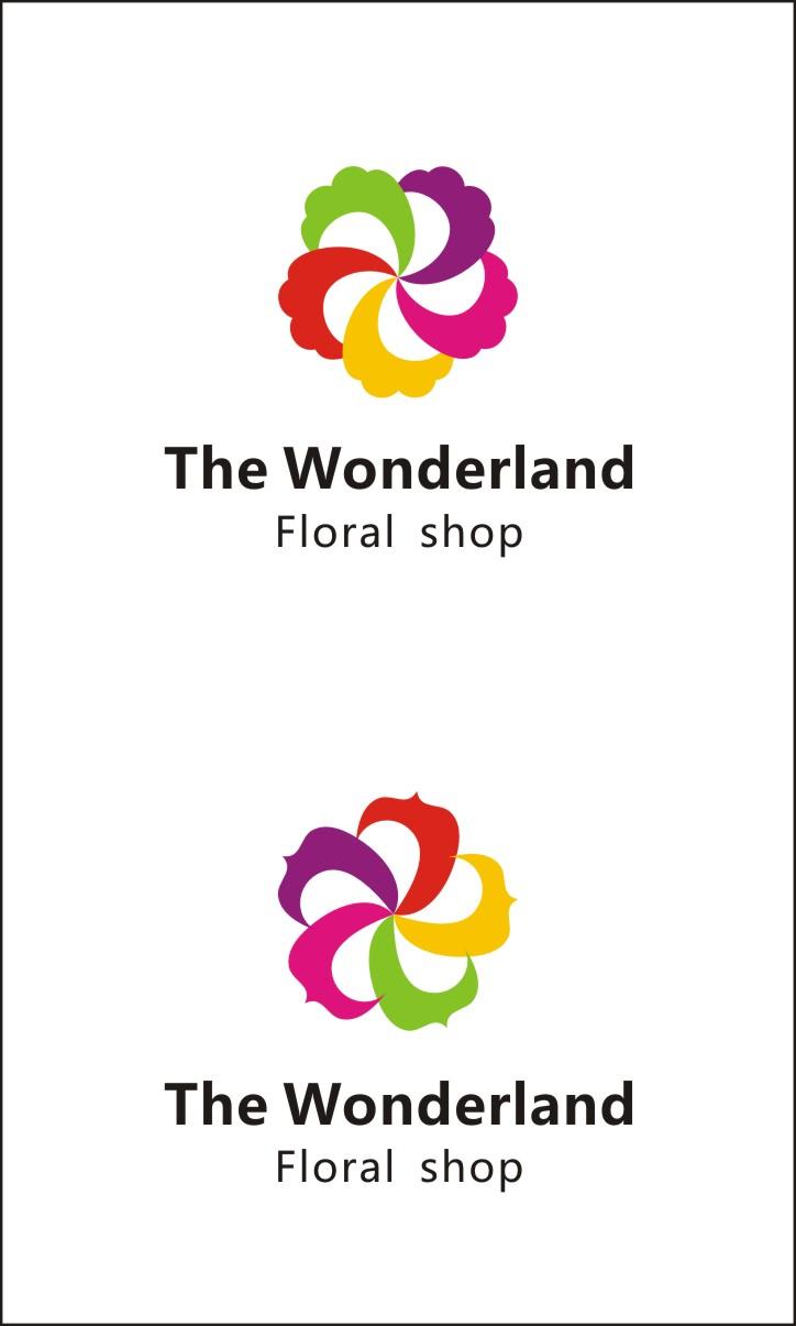 鲜花店logo设计 / the wonderland floral shop