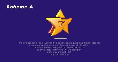 zestar公司星星卡通平面形象设计
