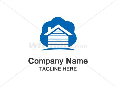 木屋 绿树 大地 logo