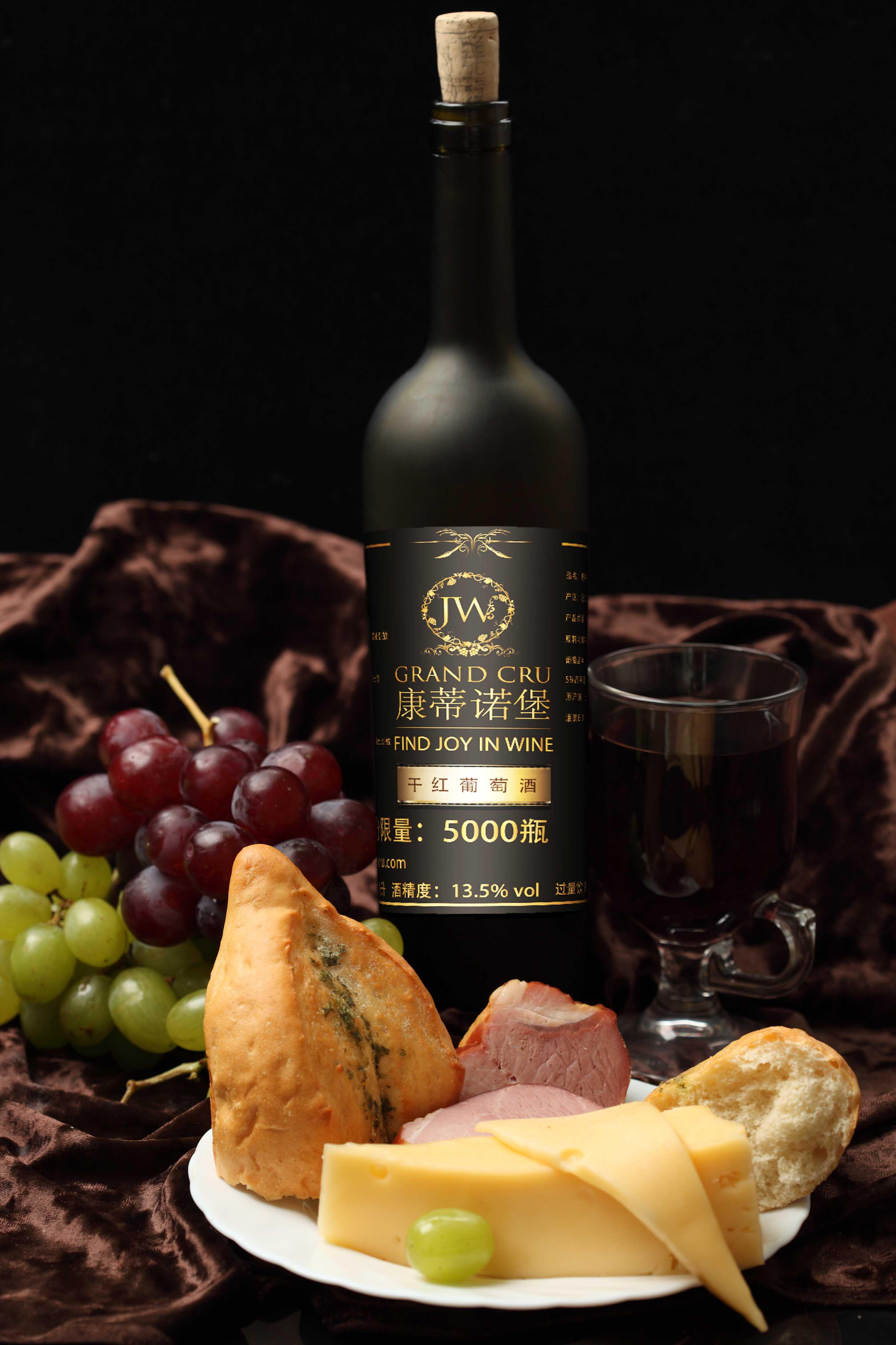 进口葡萄酒背标设计